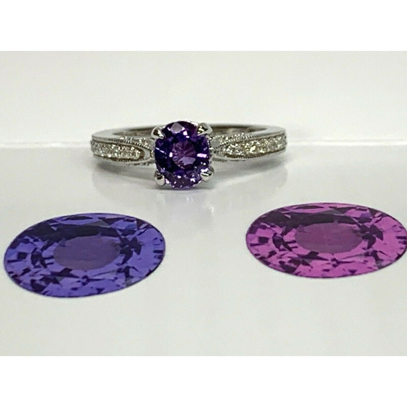 Pre-Loved Jewelry 1.28 UNHEATED Purple Sapphire GIA Cert RARE