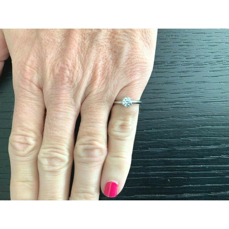 Pre-Loved Jewelry Tiffany Round .47 ct G VVS1 $5k NEW