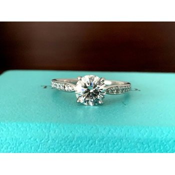 Tiffany HARMONY 1.30 ct F VS1 3 EXC $26k NEW