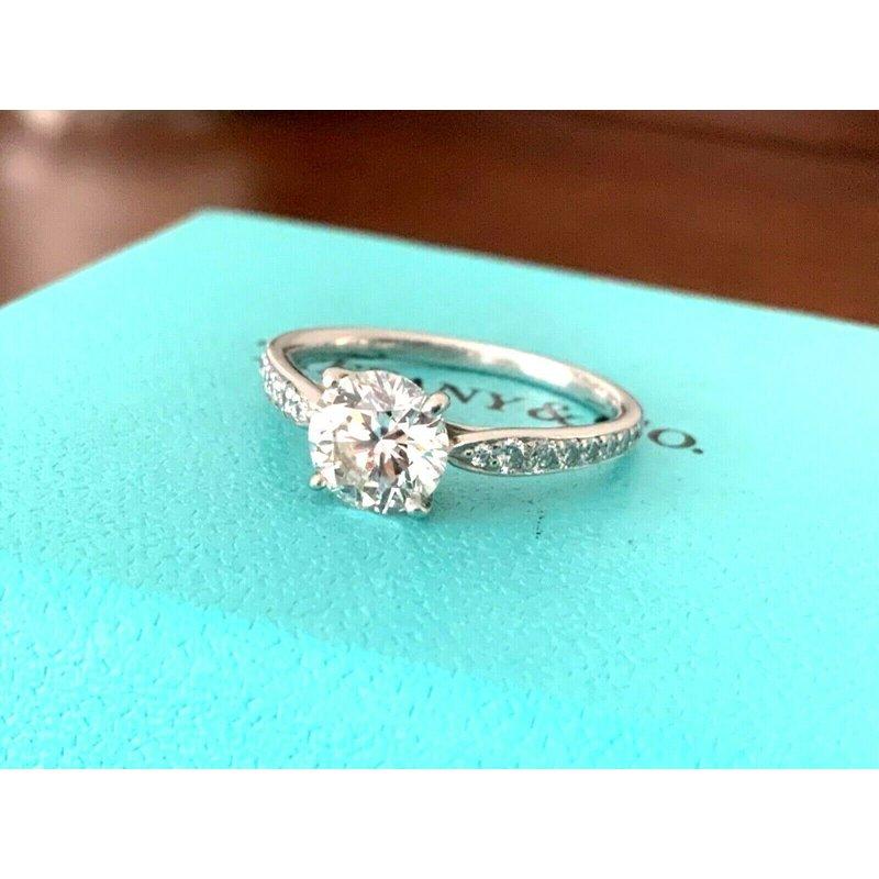 Pre-Loved Jewelry Tiffany HARMONY 1.30 ct F VS1 3 EXC $26k NEW