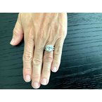 Pre-Loved Jewelry 4.24 ct 100% Natural Unheated Light Yellow Sapphire Ring