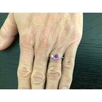Pre-Loved Jewelry 1.44 ct Oval Pink Purple Sapphire UNHEATED