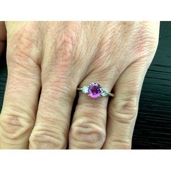 1.44 ct Oval Pink Purple Sapphire UNHEATED