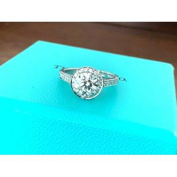 Tiffany Halo 1.31 H VVS2 3 EXC $19k
