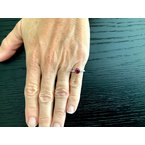 Pre-Loved Jewelry 1.21 ct Thai Ruby and Diamond Ring GIA Certified