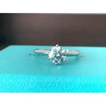 Tiffany Round 1.04 ct H VS1 3EXC $17k NEW