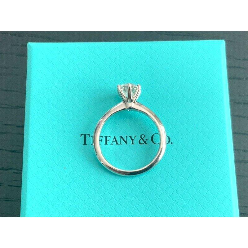 Pre-Loved Jewelry Tiffany Round 1.04 ct H VS1 3EXC $17k NEW