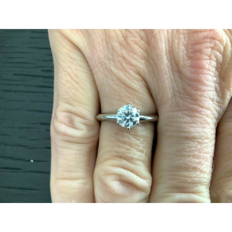 Pre-Loved Jewelry Tiffany Round .71 ct G VVS1 3 EXC $10k NEW