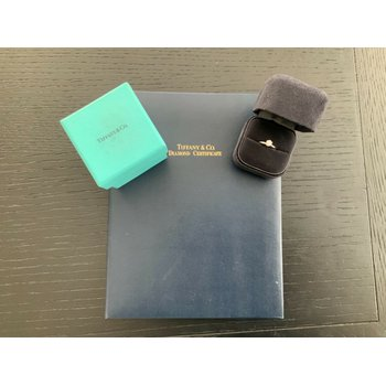 Tiffany Round .46 ct E VS2 $6k NEW