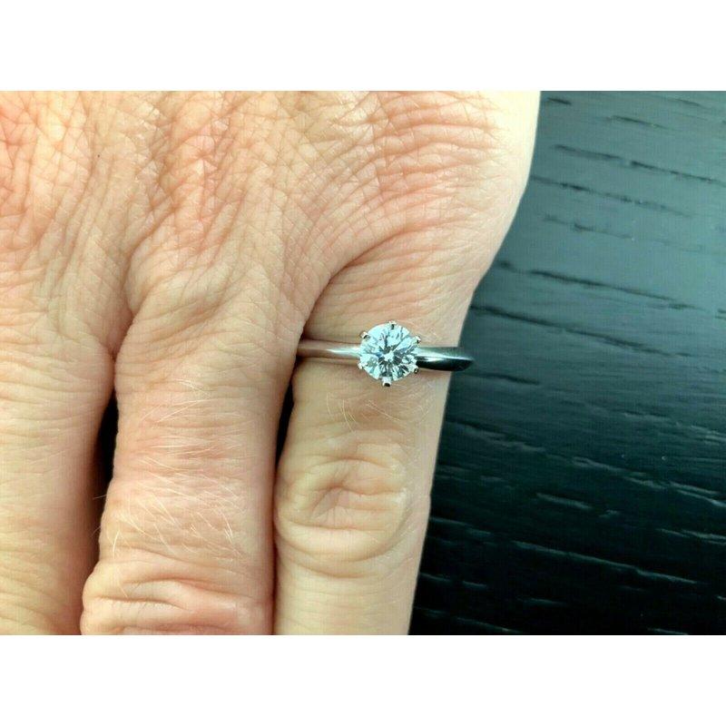 Pre-Loved Jewelry Tiffany Round .46 ct E VS2 $6k NEW