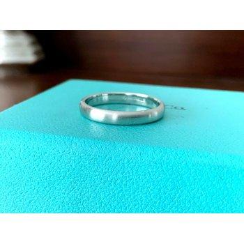 Tiffany 3 mm Platinum Wedding Band SATIN FINISH 7 $1150 NEW