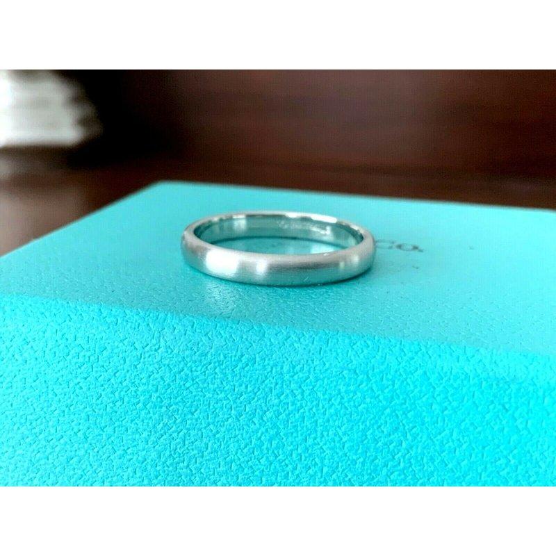 Pre-Loved Jewelry Tiffany 3 mm Platinum Wedding Band SATIN FINISH 7 $1150 NEW