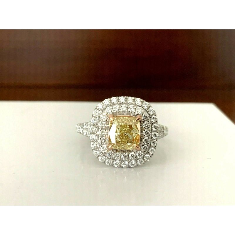 GIA Certified 1.41 ct Fancy Yellow Diamond Ring BRAND NEW 2021
