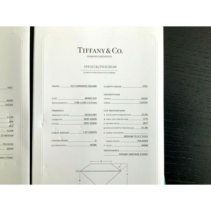 Pre-Loved Jewelry Tiffany 2.10 ct LUCIDA Stud Earrings G VVS1/2 $30k NEW