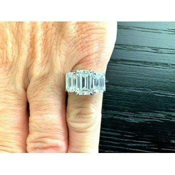 Tiffany Emerald Cut 5.74 ct G/H VVS1 $157k NEW