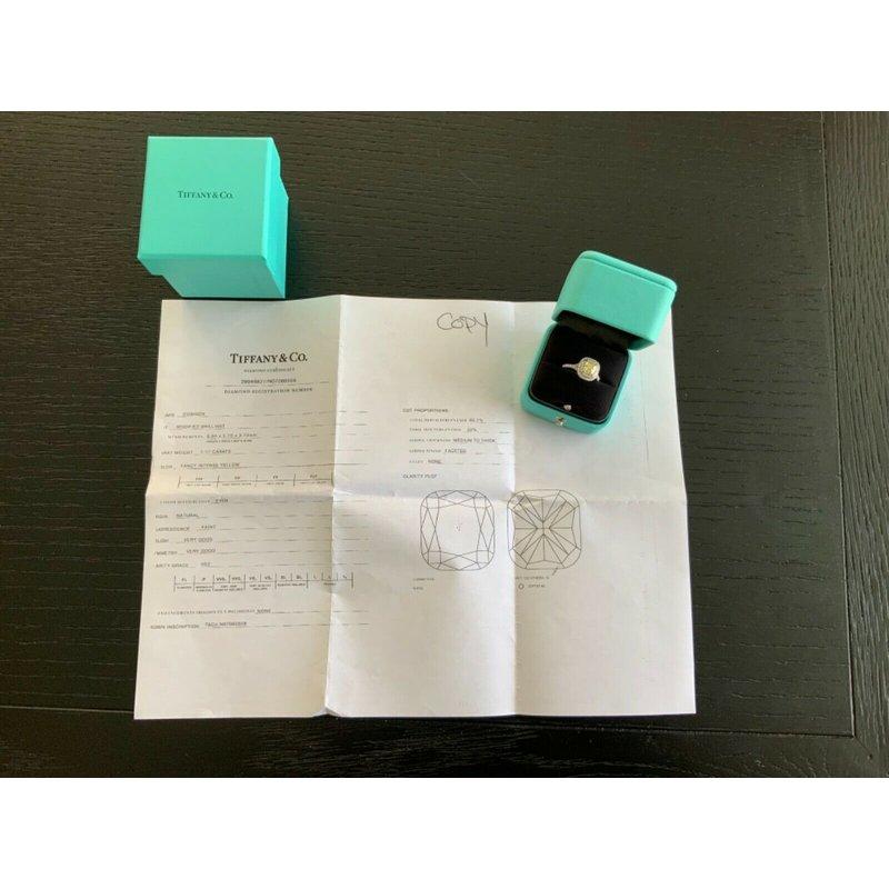 Pre-Loved Jewelry Tiffany Fancy Intense Yellow Soleste 1.52 ct $22k NEW