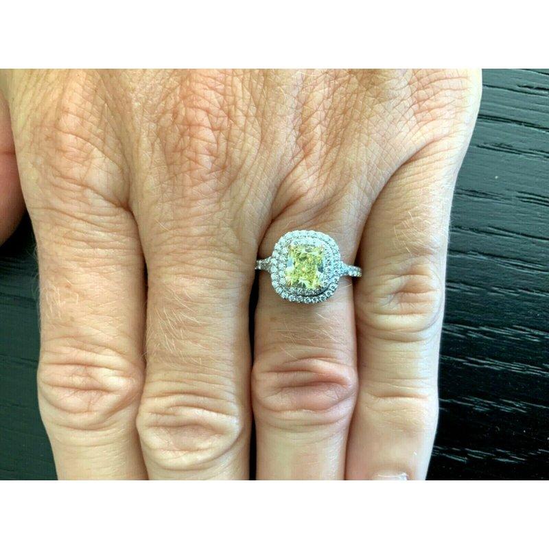 Tiffany Fancy Intense Yellow Soleste 1.52 ct $22k NEW