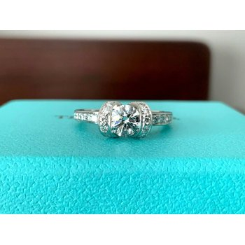 Tiffany Ribbon Ring .73 ct E VS1