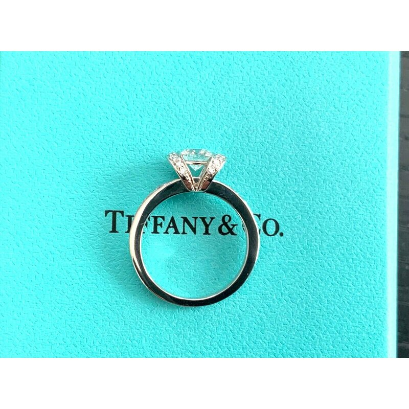 Pre-Loved Jewelry Tiffany Ribbon Ring .73 ct E VS1