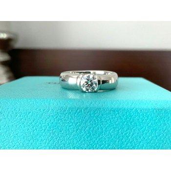 Tiffany Etoile .54 ct F VVS2 $9k NEW