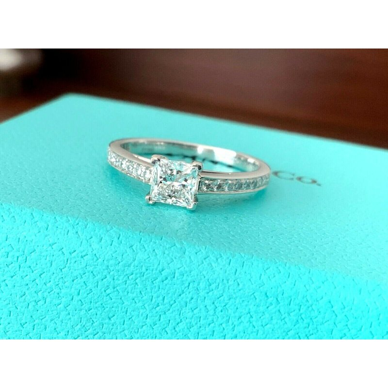 Pre-Loved Jewelry Tiffany GRACE Princess Cut .67 ct