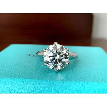 Tiffany Round 3.36 ct I VS2 $111k NEW