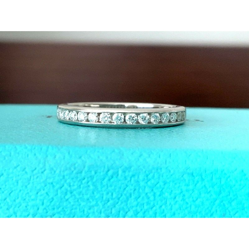 Pre-Loved Jewelry Tiffany Channel Set Eternity Band Size 5.5 $3k NEW
