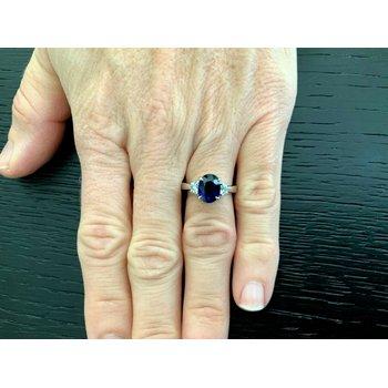 2.34 ct Oval Blue Sapphire UNHEATED -RARE!