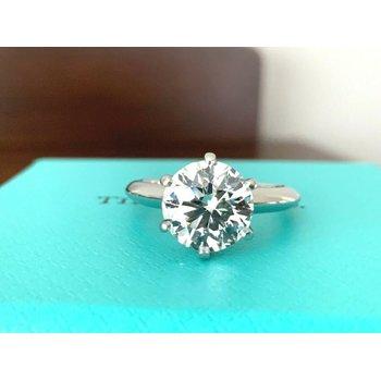 Tiffany Round 2.33 ct G VS2 $65k NEW