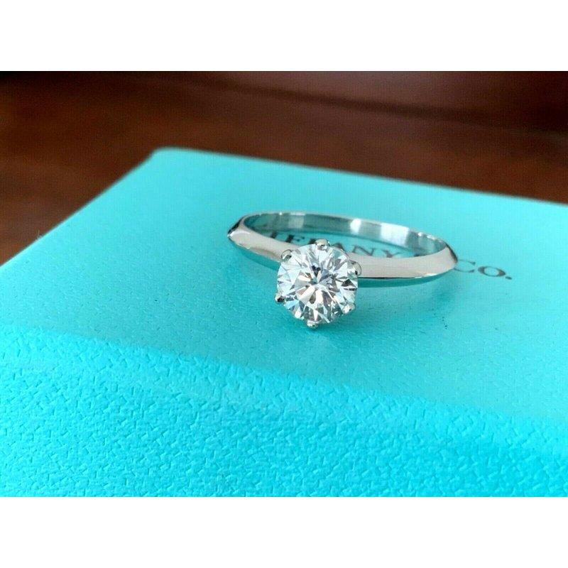 Pre-Loved Jewelry Tiffany Round .90 ct H VS1 $12k NEW