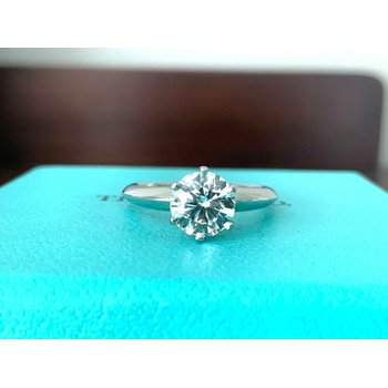 Tiffany 1.07 ct Round Int FLAWLESS $19k NEW