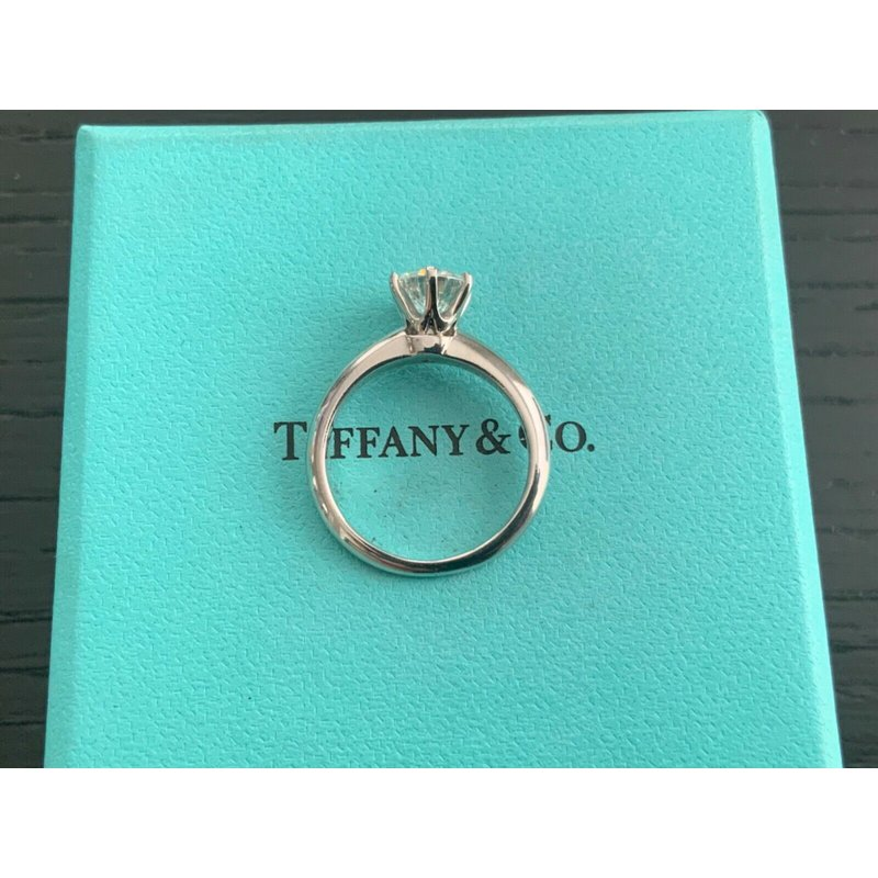 Pre-Loved Jewelry Tiffany 1.07 ct Round Int FLAWLESS $19k NEW