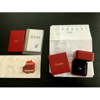 Cartier .53 ct Round G VVS2 3 EXC $7k NEW