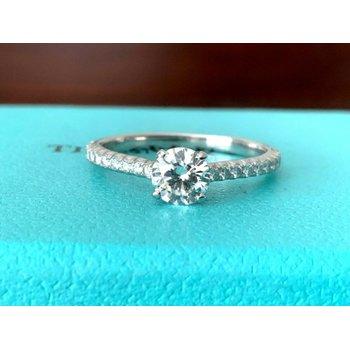 Tiffany Round NOVO .68 ct H VVS2 $7k NEW