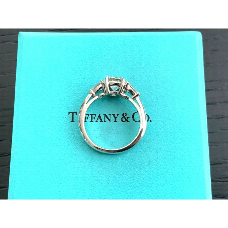 Pre-Loved Jewelry Tiffany Round with Pears 1.55 ct G VVS2 $25k NEW