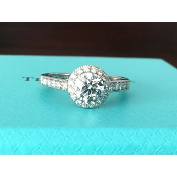 Tiffany Round Halo .74 ct