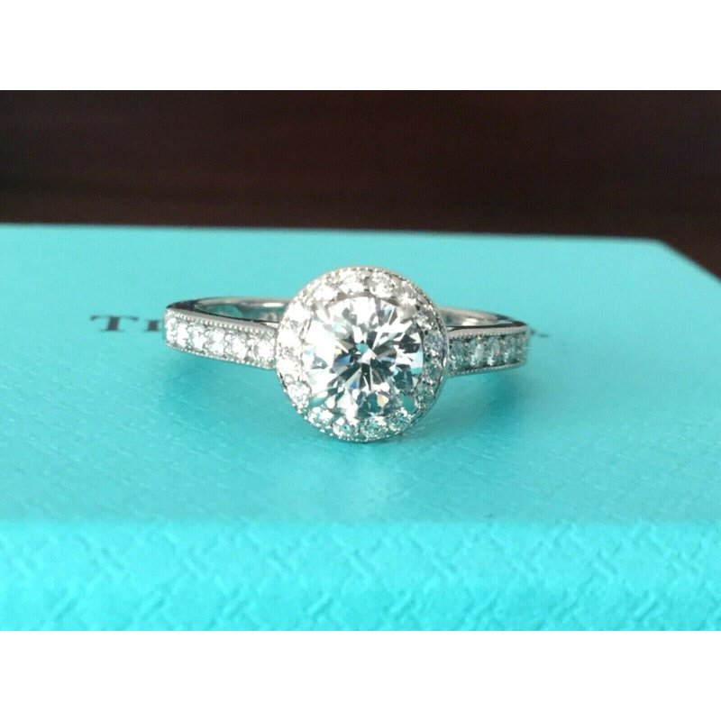 Pre-Loved Jewelry Tiffany Round Halo .74 ct