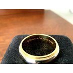 Pre-Loved Jewelry Tiffany 6 mm Platinum and 18k Gold Wedding Band size 9