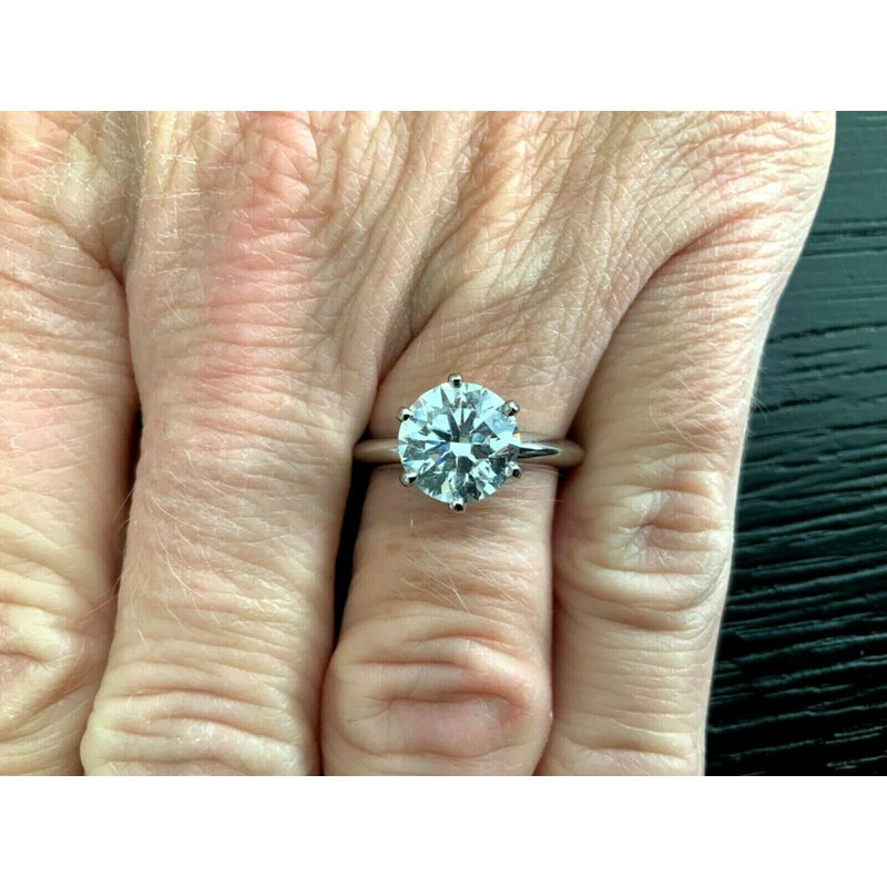Pre-Loved Jewelry Tiffany Round 2.31 D VS1 3 EXC $99k NEW