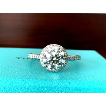 Tiffany ROUND Soleste 2.25 ct 2019 Model $48k NEW