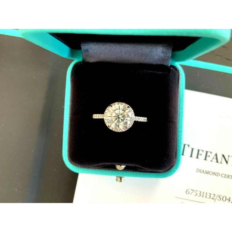 Pre-Loved Jewelry Tiffany ROUND Soleste 2.25 ct 2019 Model $48k NEW