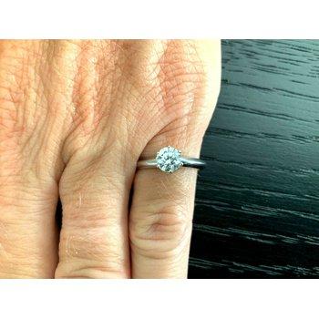 Tiffany Round .59 ct H VVS1 3 EXC $7k NEW