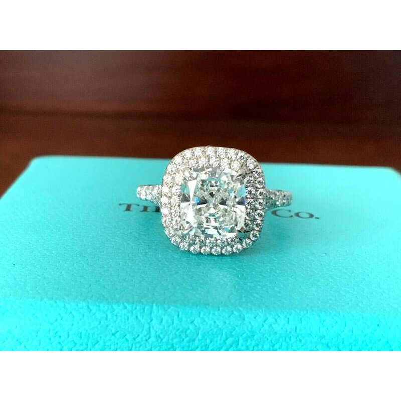 Pre-Loved Jewelry Tiffany Soleste 2.41 ct G VS1 $77k NEW