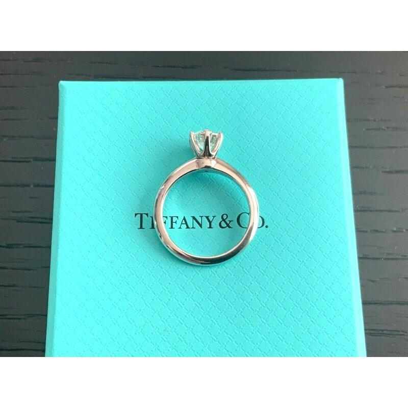 Pre-Loved Jewelry Tiffany Round 1.01 ct H VVS2 3 EXC $17k NEW