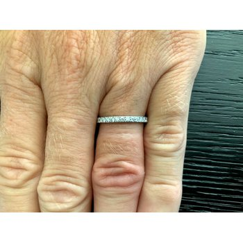 Tiffany NOVO Half Eternity Diamond Band Size 6.5