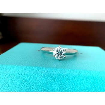 Tiffany Round .63 ct E VS2 3 EXC $9200 NEW