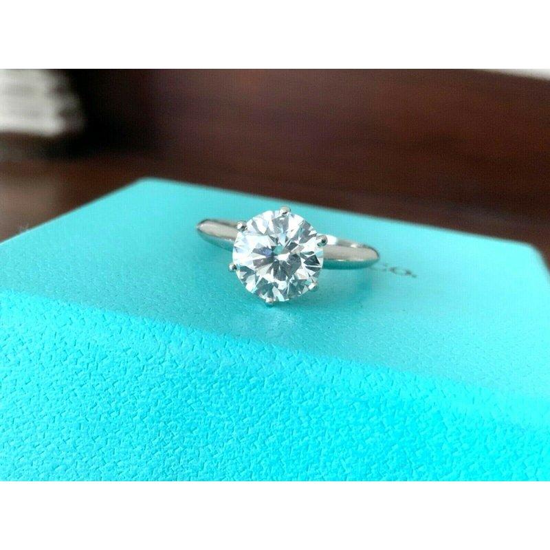 Pre-Loved Jewelry Tiffany Round 2.08 ct I VS1 3 EXC $50k NEW
