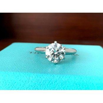 Tiffany Round 2.08 ct I VS1 3 EXC $50k NEW