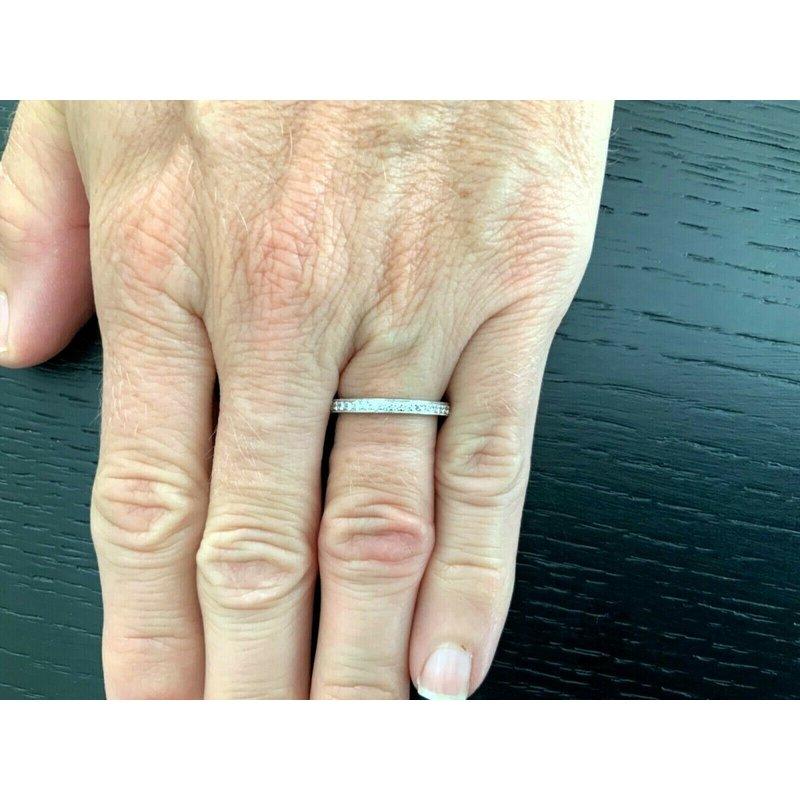Pre-Loved Jewelry Tiffany Legacy FULL Eternity Diamond Band $3675 NEW