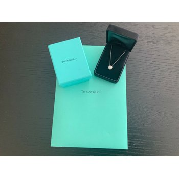 Tiffany LUCIDA 1.16 ct Pendant Solitaire Necklace 18k NEW